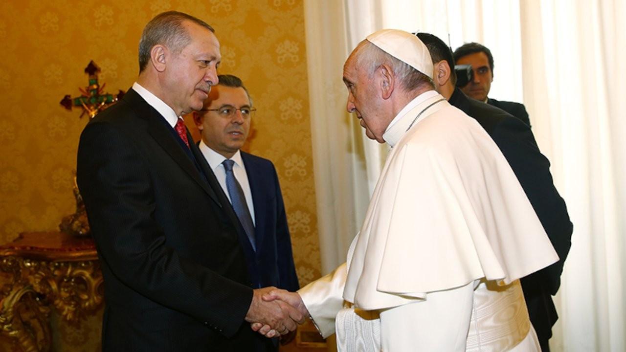 Erdoğan ile Papa Francis, Gazze'yi konuştu