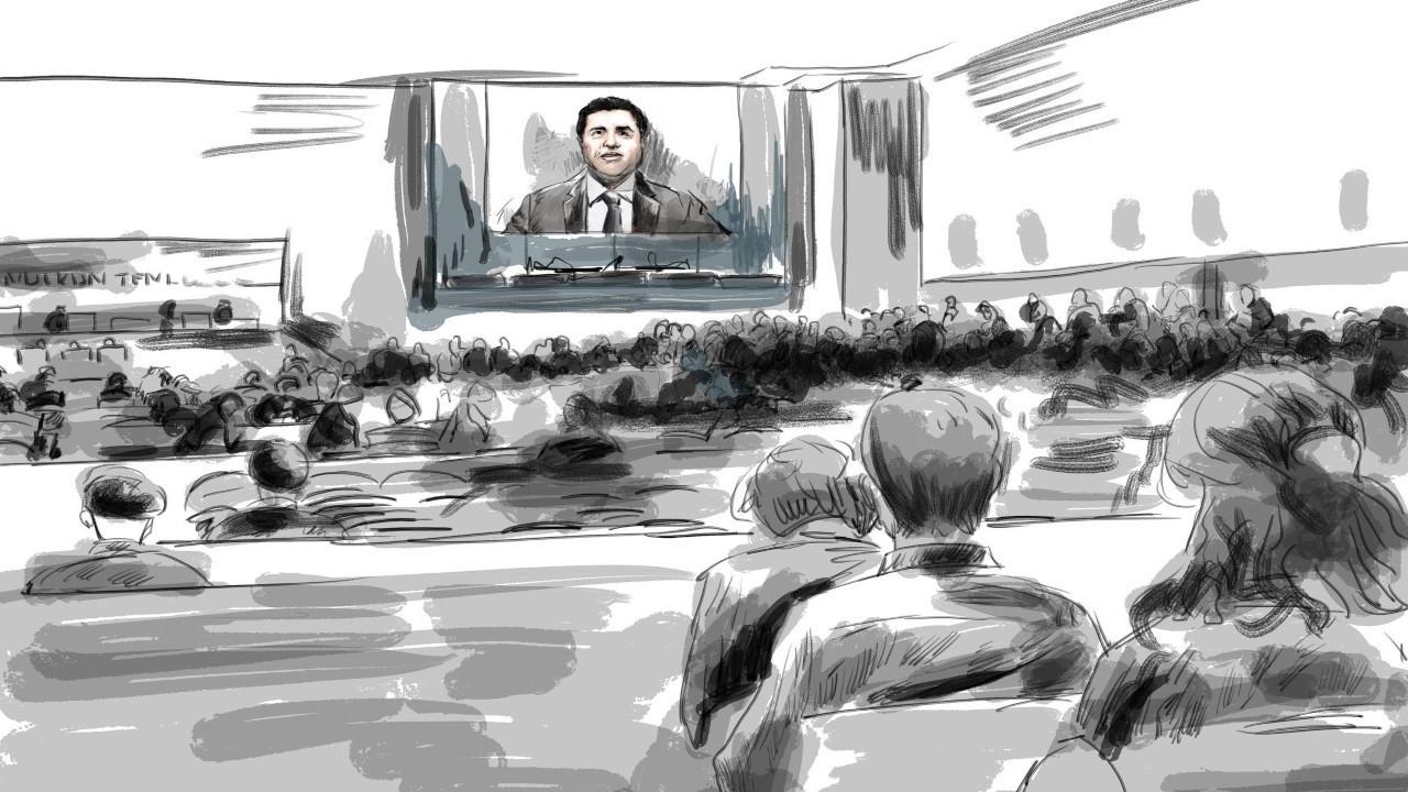 Kobanê Davası'nda ikinci duruşma başladı... Demirtaş: Mahkeme heyeti çeviride sahtecilik yapmış