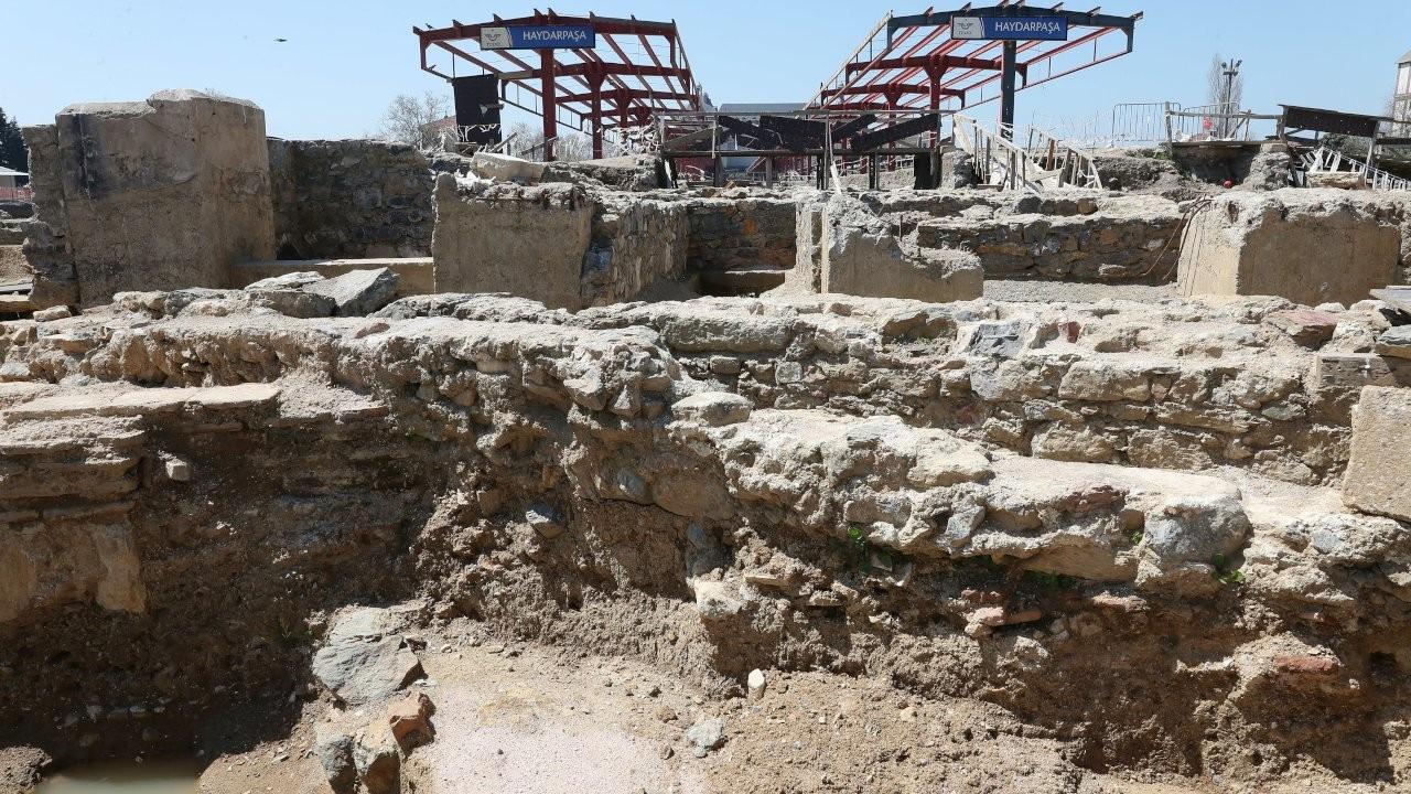 Haydarpaşa Garı'nda 2 bin 400 yıllık anıt bulundu