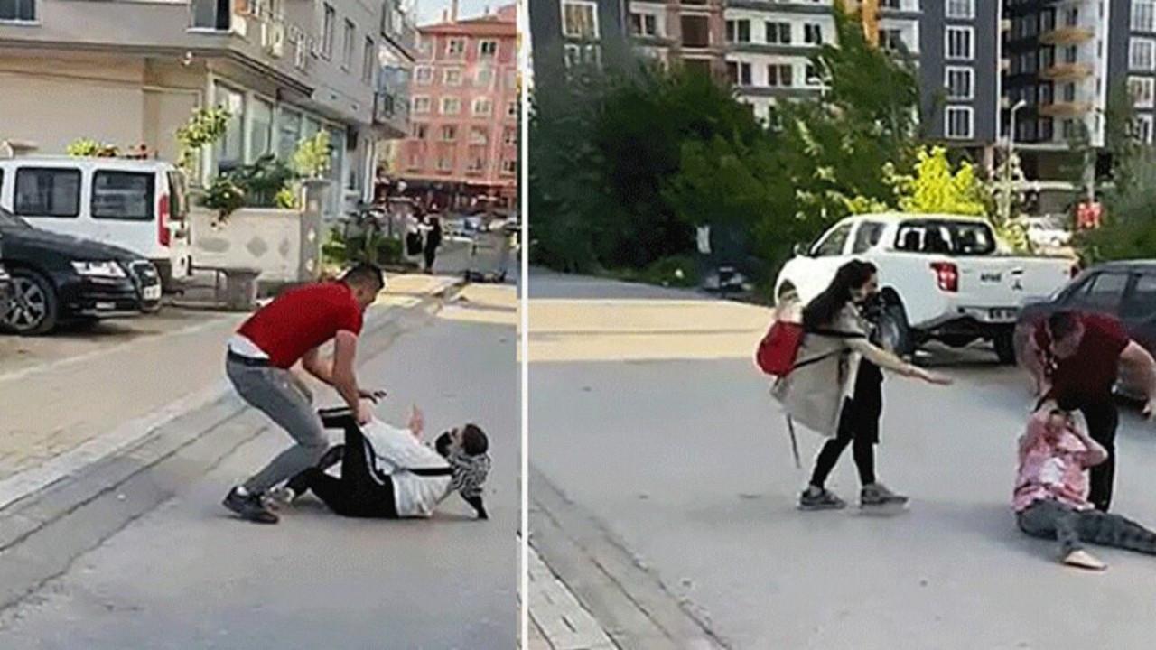 Çankırı'da iki erkek kadınlara tekme tokat saldırdı