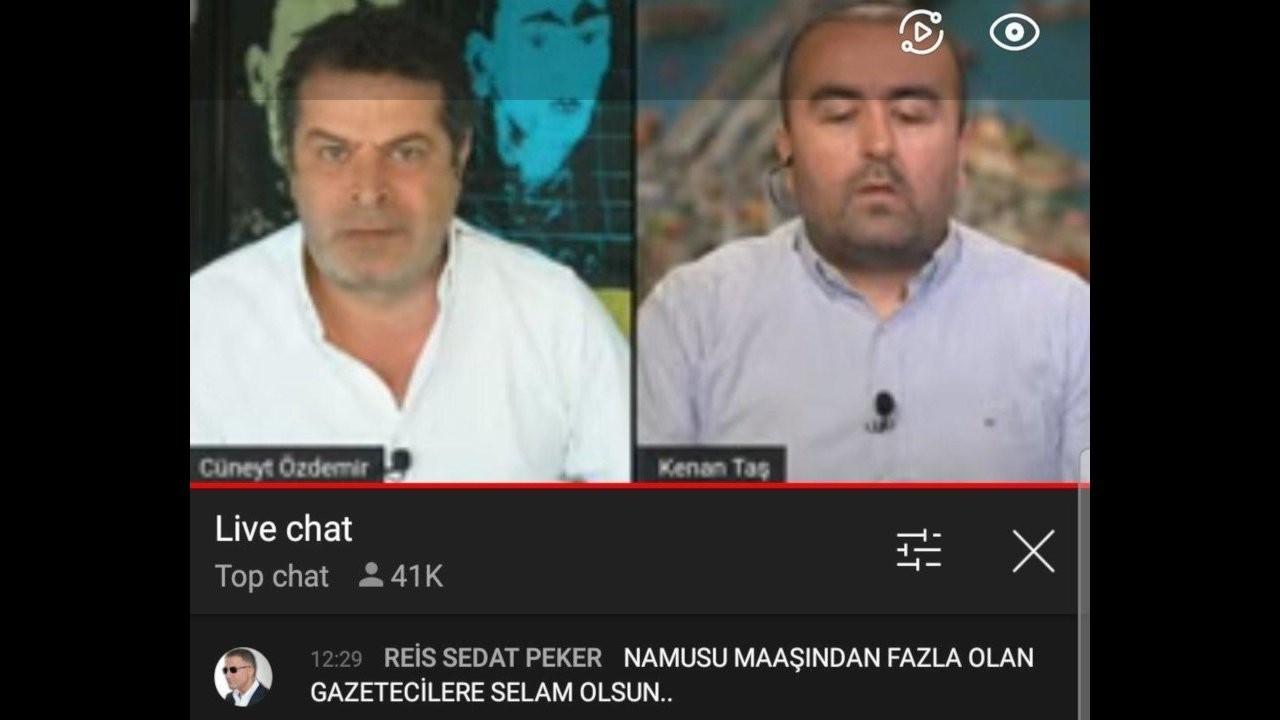 Sedat Peker, Cüneyt Özdemir'in yayınına yorum yazdı