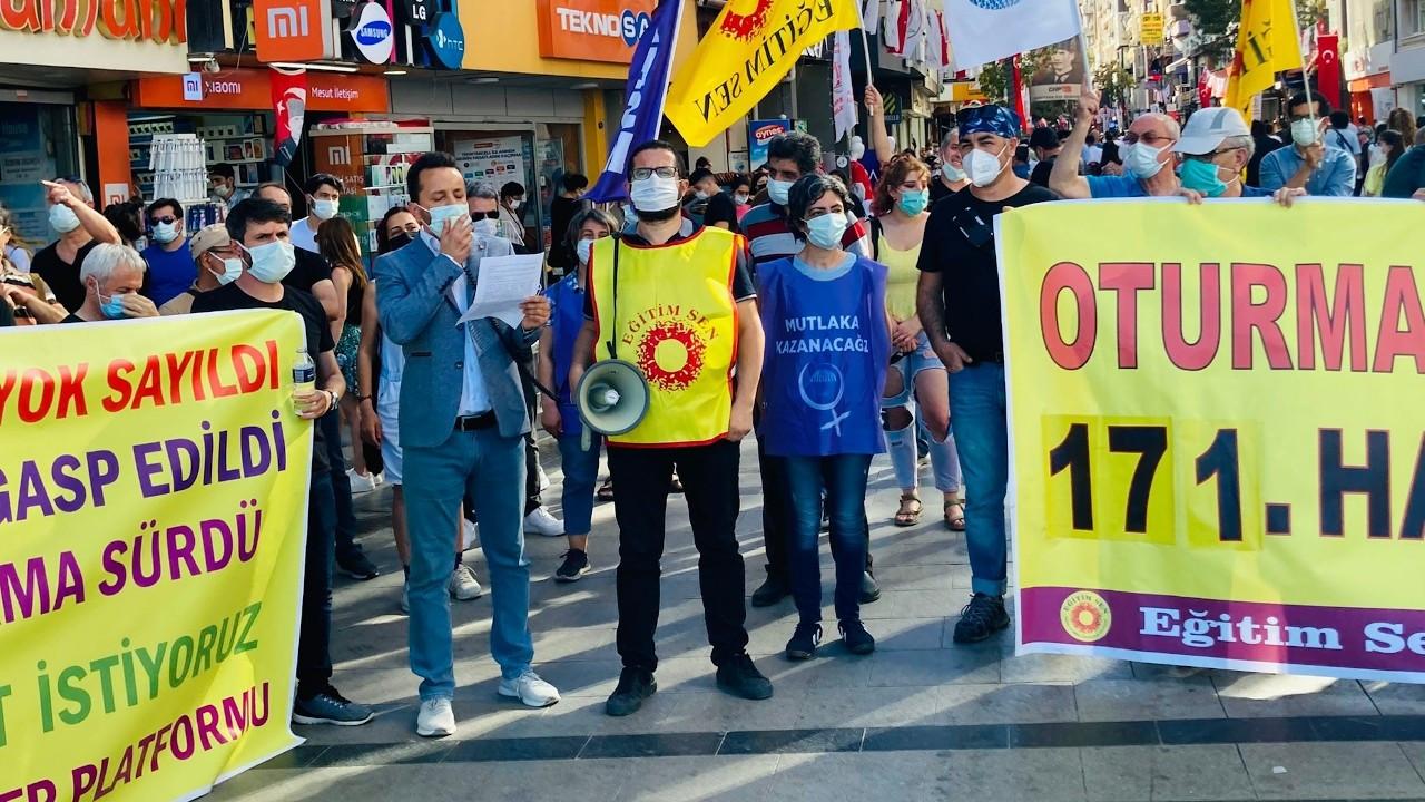 Eğitim-Sen'in İzmir direnişi 171. haftada