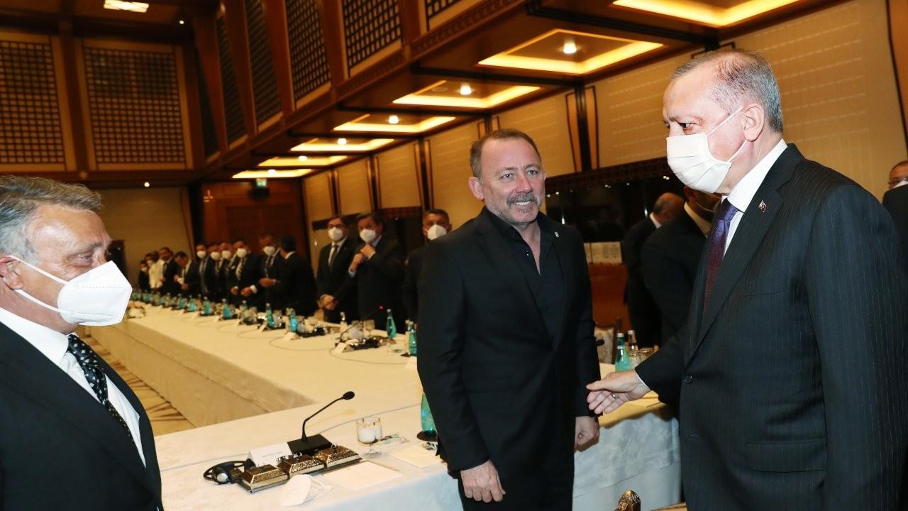 Beşiktaş şampiyonluk kupasını Erdoğan'a götürdü