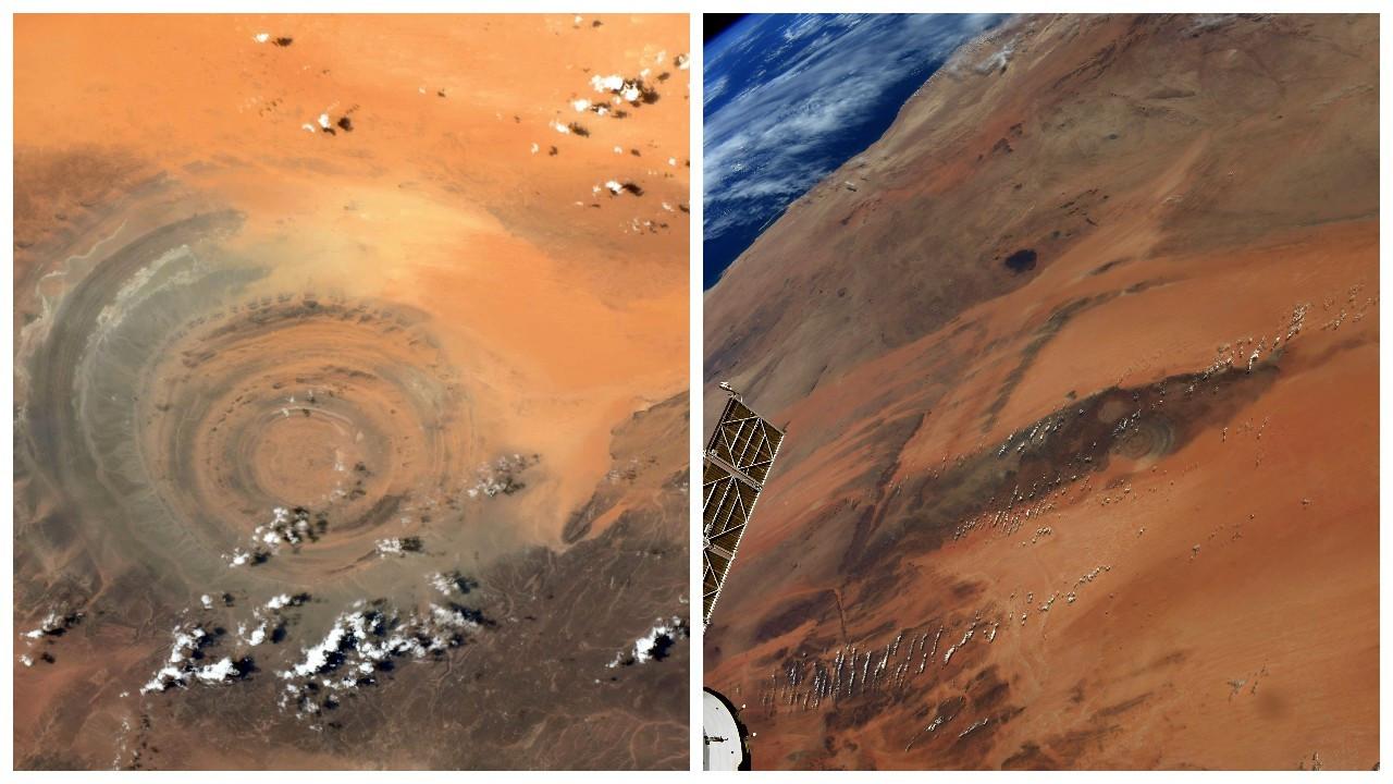 Uzaydan 'Sahra'nın Gözü' fotoğrafı