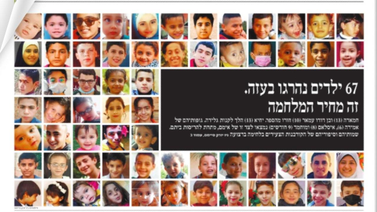 Haaretz Gazze'de öldürülen 67 çocuğun fotoğraflarını yayımladı