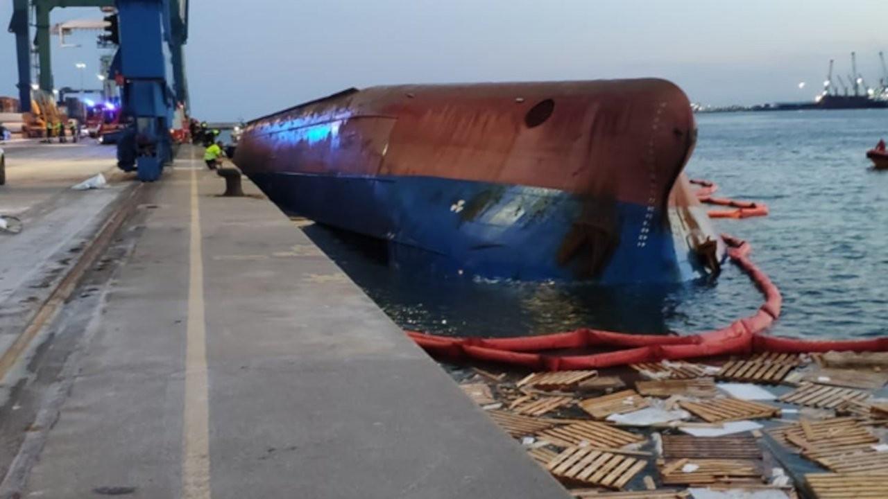 İspanya'da gemi alabora oldu: 5'i Türk 9 mürettebat denize düştü