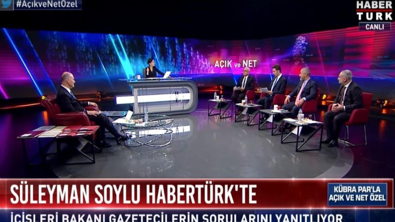 Soylu'nun Habertürk yayınında gazeteciler kaçar dakika konuştu?