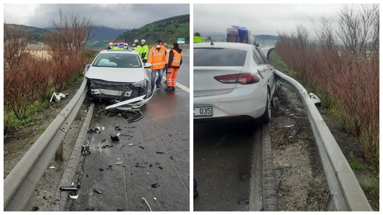 MHP milletvekilleri Kalyoncu ve Karadağ trafik kazası geçirdi