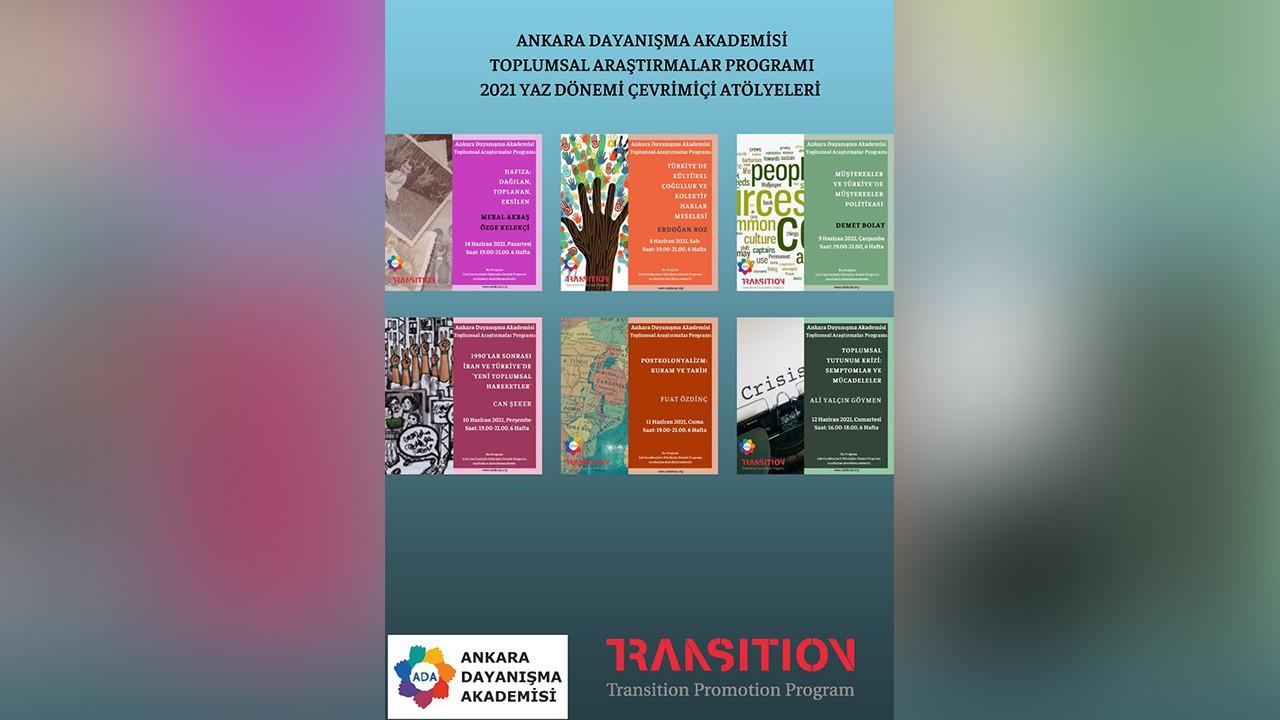 Ankara Dayanışma Akademisi'nin Yaz 2021 Atölyeleri başlıyor