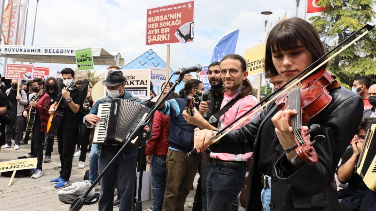 Bursa sokakları müzisyenlere açıldı