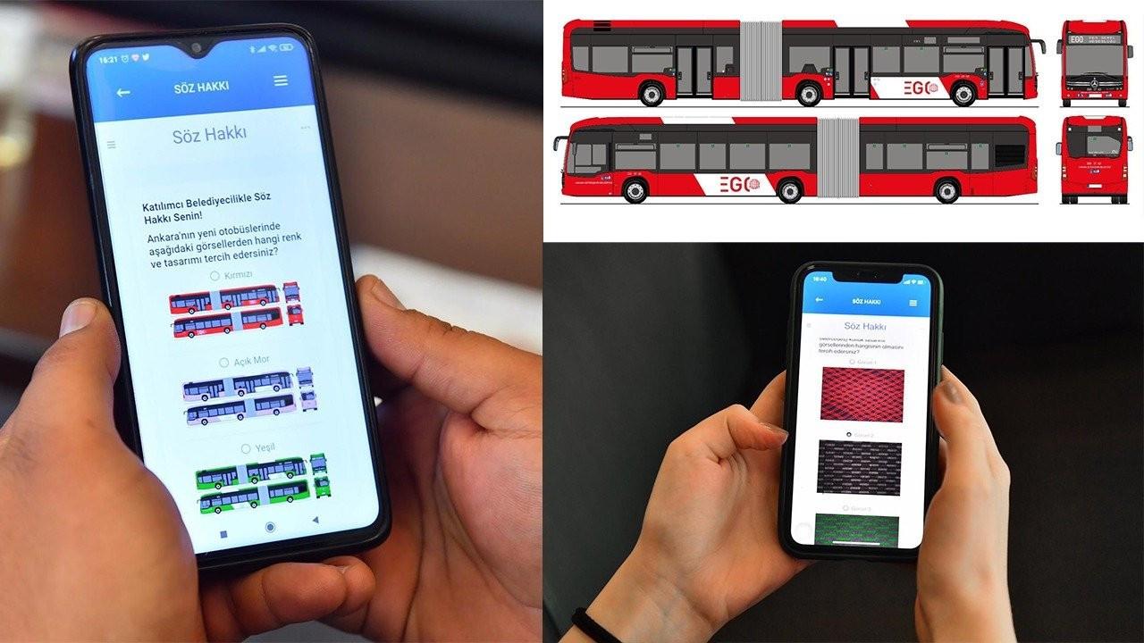 Yeni otobüslerin rengi ve tasarımı için Ankaralılara 'Söz hakkı'