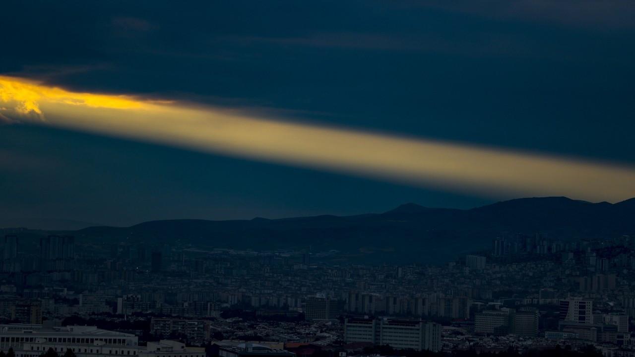 Ankara'da gün batımı manzarası