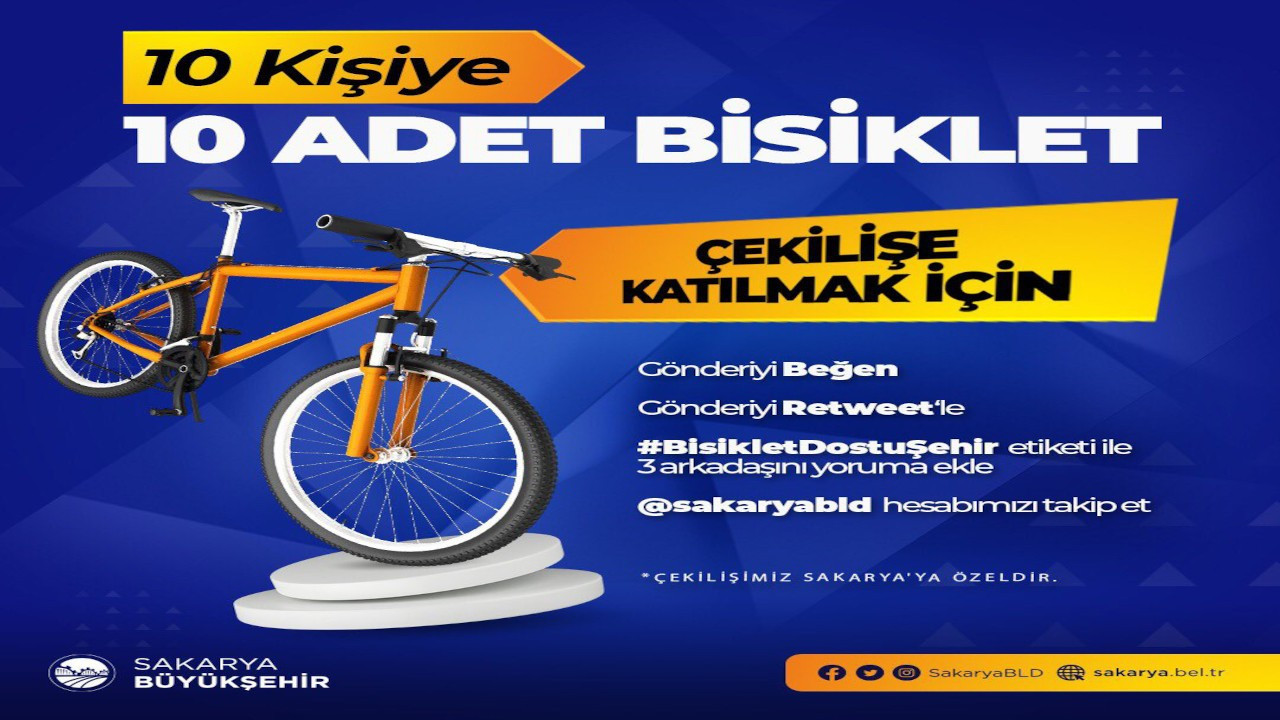AK Partili belediyenin bisiklet çekilişini AK Partililer kazandı