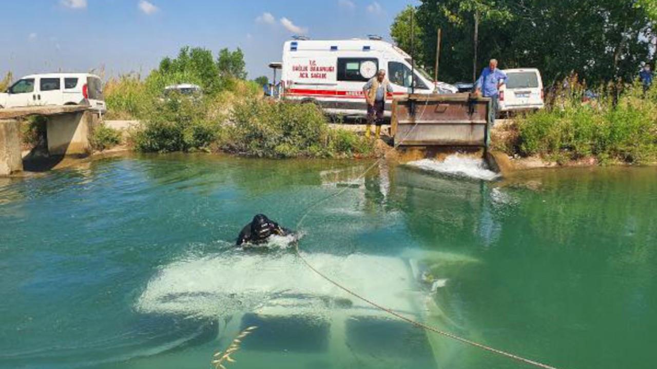 Adana'da ticari araç sulama kanalına devrildi, 2 kişi öldü