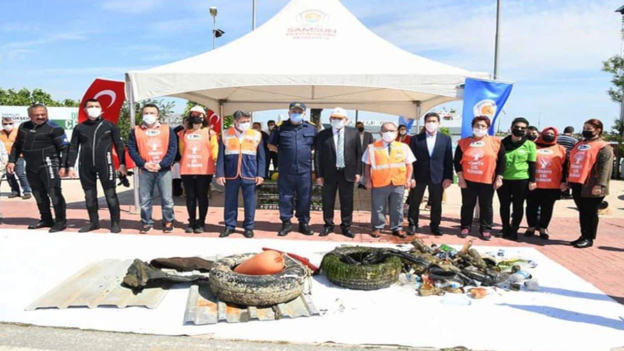 5 Haziran Dünya Çevre Günü: Samsun'da denizden yarım ton çöp çıkarıldı