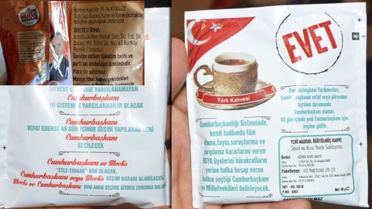 AK Parti'nin kahvelerinde anayasa değişikliği maddeleri de yer almıştı
