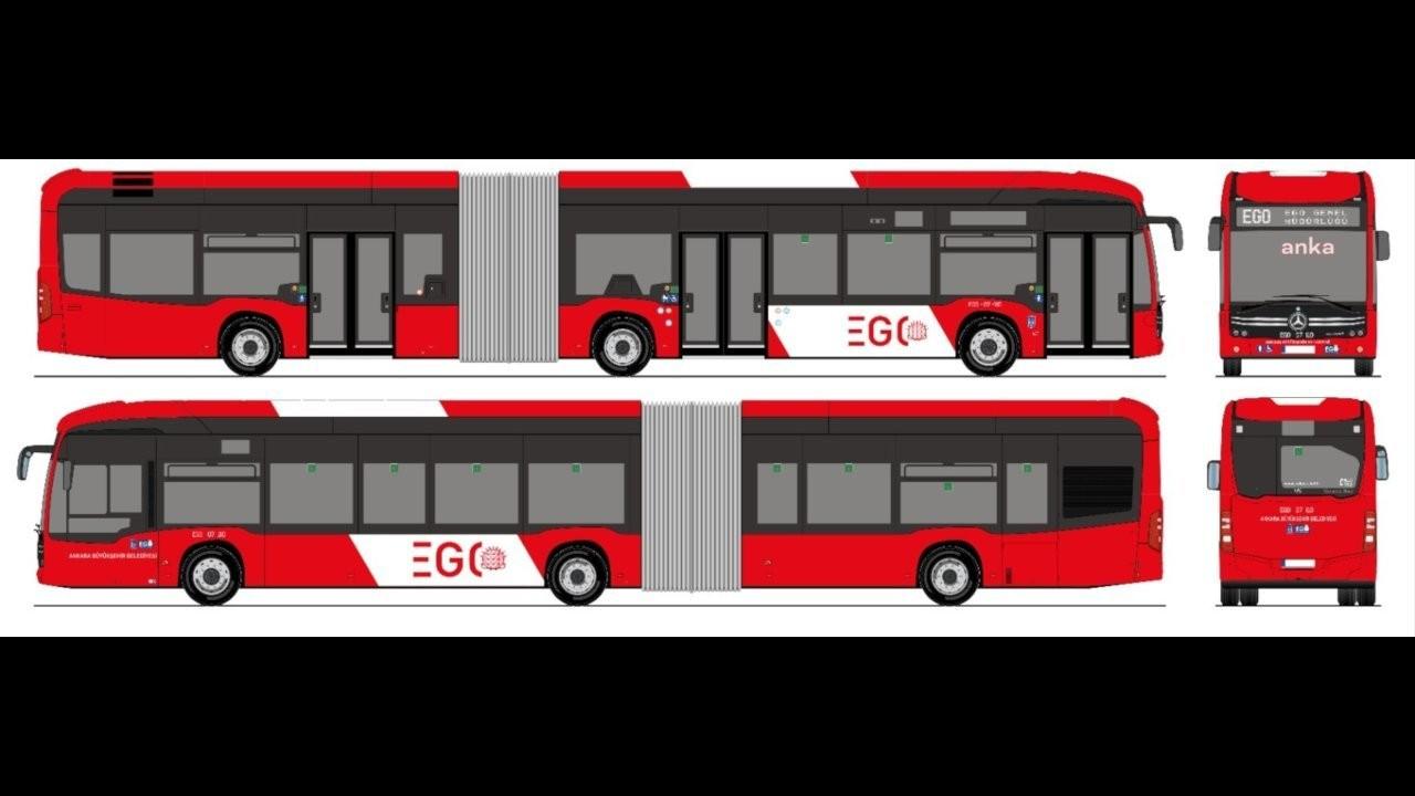 Ankaralılar yeni otobüsler için kırmızı-beyaz renklerini seçti