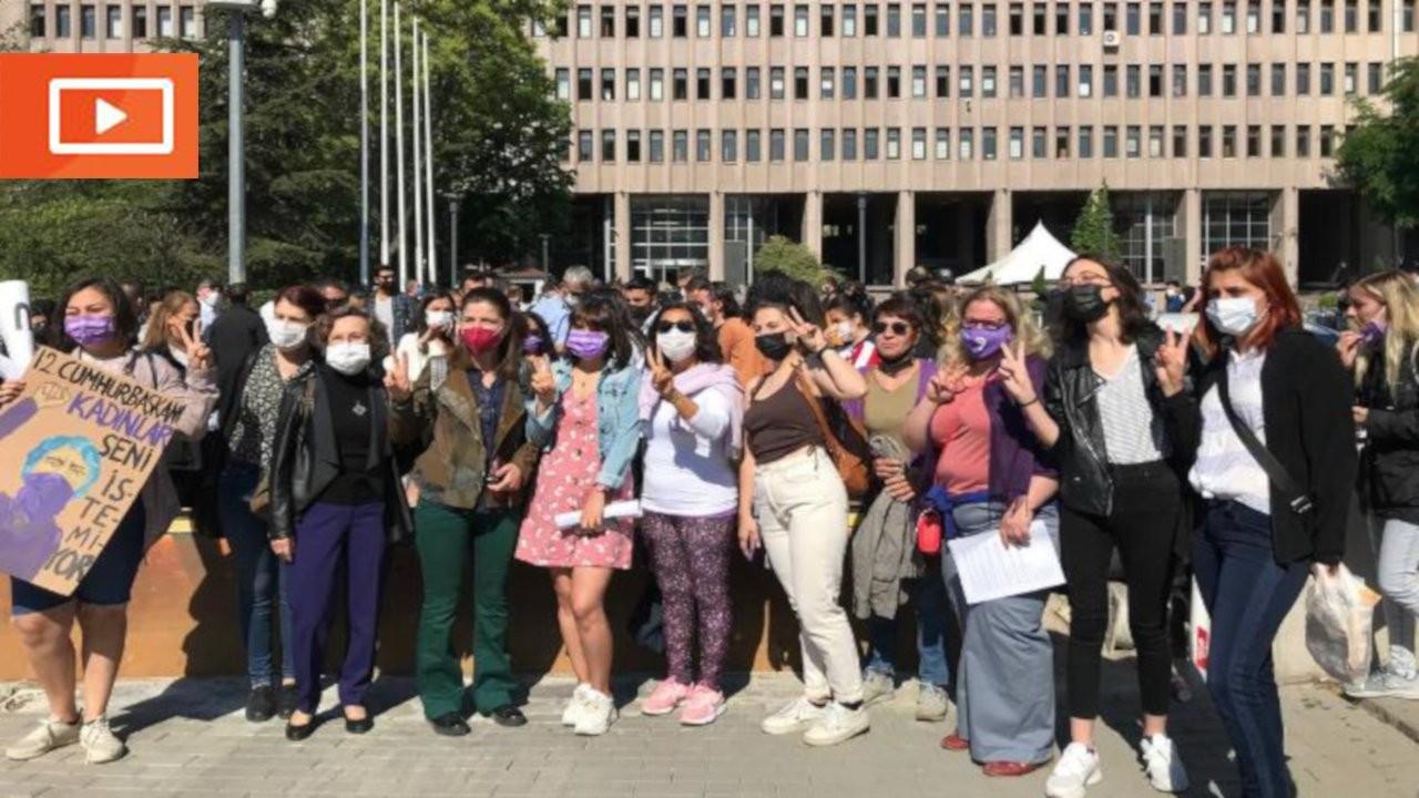 İstanbul Sözleşmesi eyleminden yargılanan kadınlar gözaltına alındı