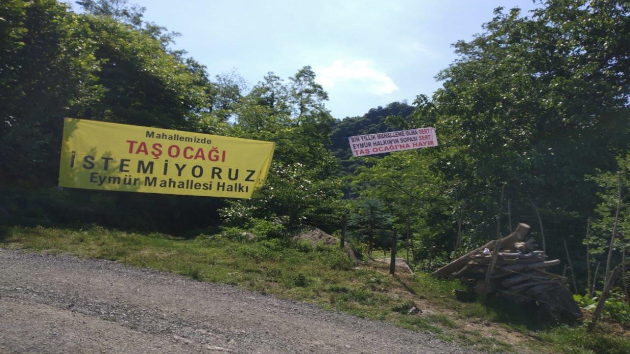 Eymür Mahallesi'nden bilirkişi heyetine: Taş ocağı istemiyoruz