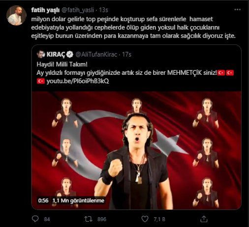 Kıraç'ın Milli Takım şarkısına 'militarist' tepkisi: Savaşa mı gidiyoruz? - Sayfa 4