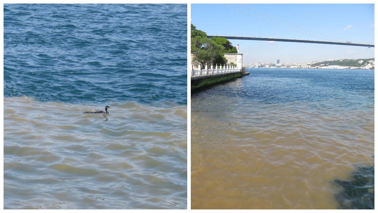 Üsküdar'dan Boğaz'a çamurlu su aktı