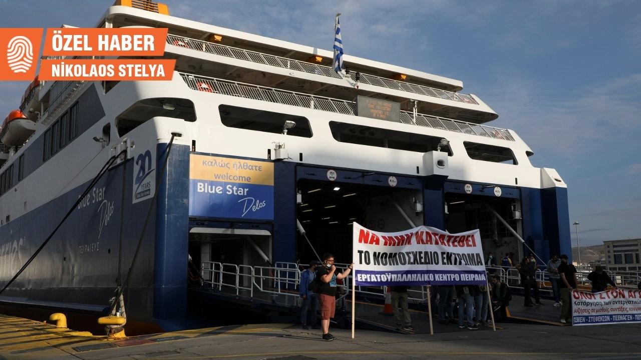 Yunanistan sekiz saatlik mesaiyi savunmak için ayakta: 71 kentte grev var