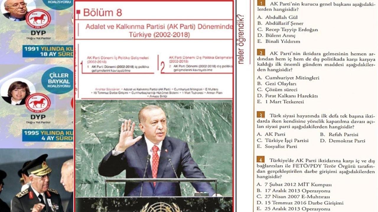 İnkılap Tarihi ders kitabına AK Parti dönemi eklendi, sınavda MİT TIR'ları da soruldu