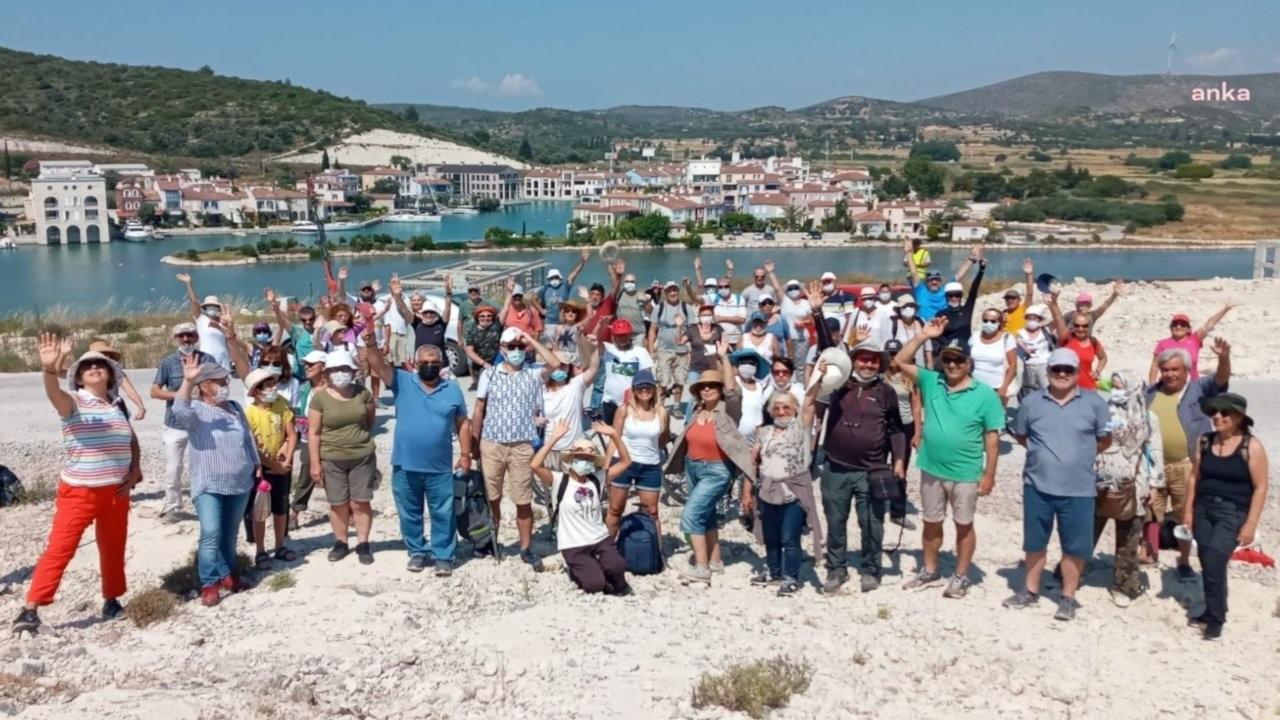 Alaçatı Sulak Alanı'nda protesto: Flamingoların cenneti talan ediliyor