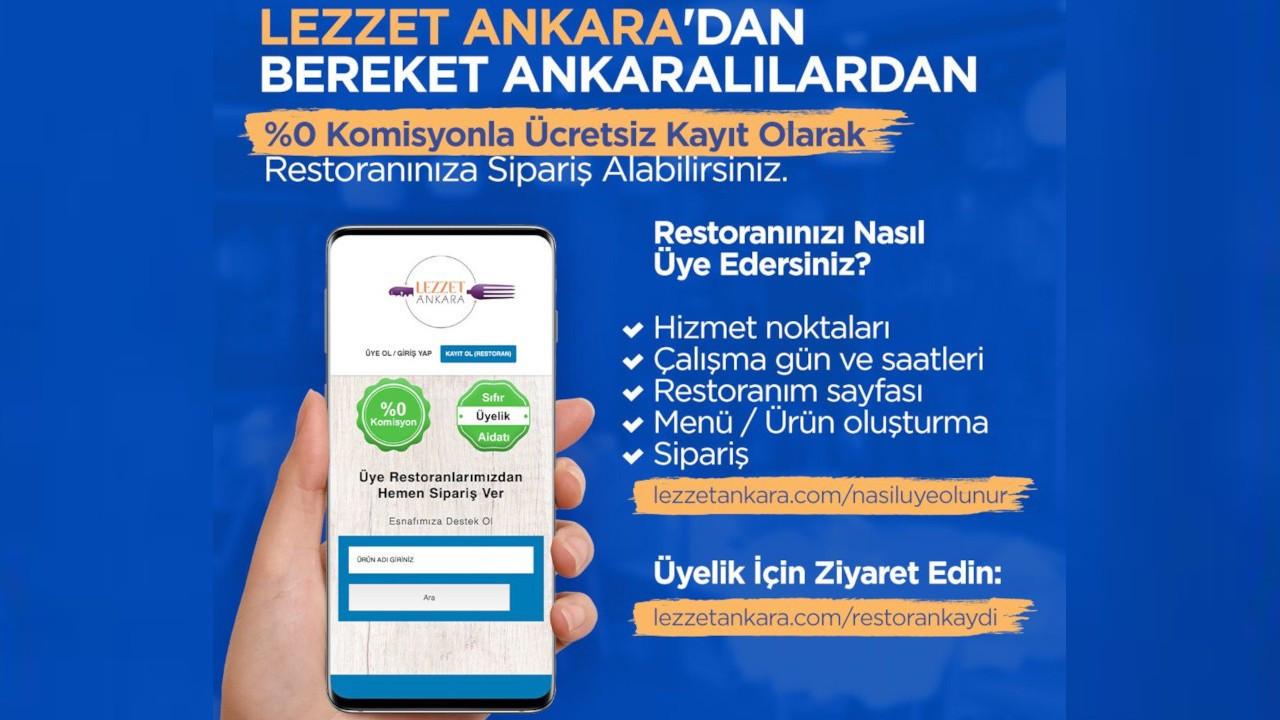 Ankara Büyükşehir'den 0 komisyonlu 'Lezzet Ankara' uygulaması