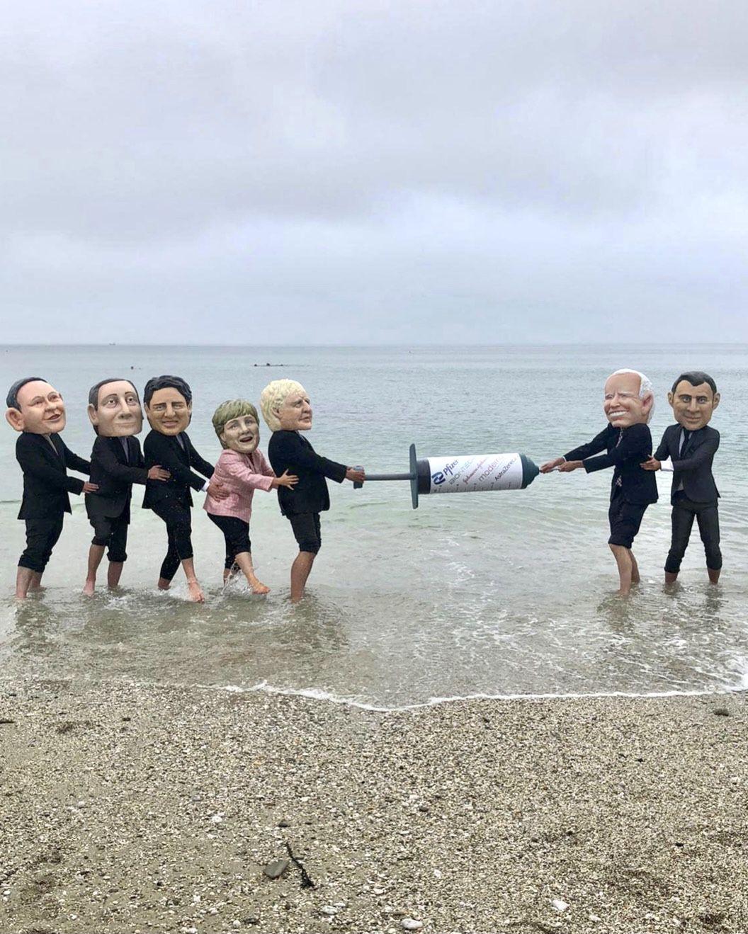 G-7 aşı protestosuyla başladı - Sayfa 4