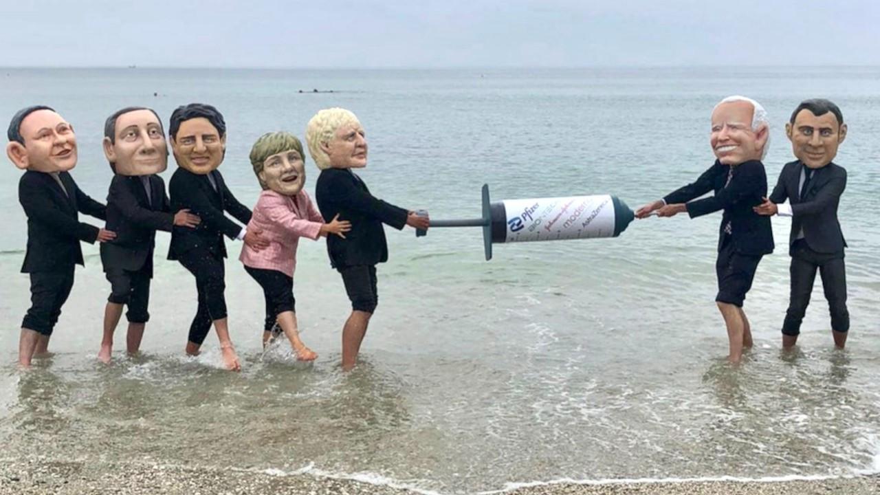 G-7 aşı protestosuyla başladı