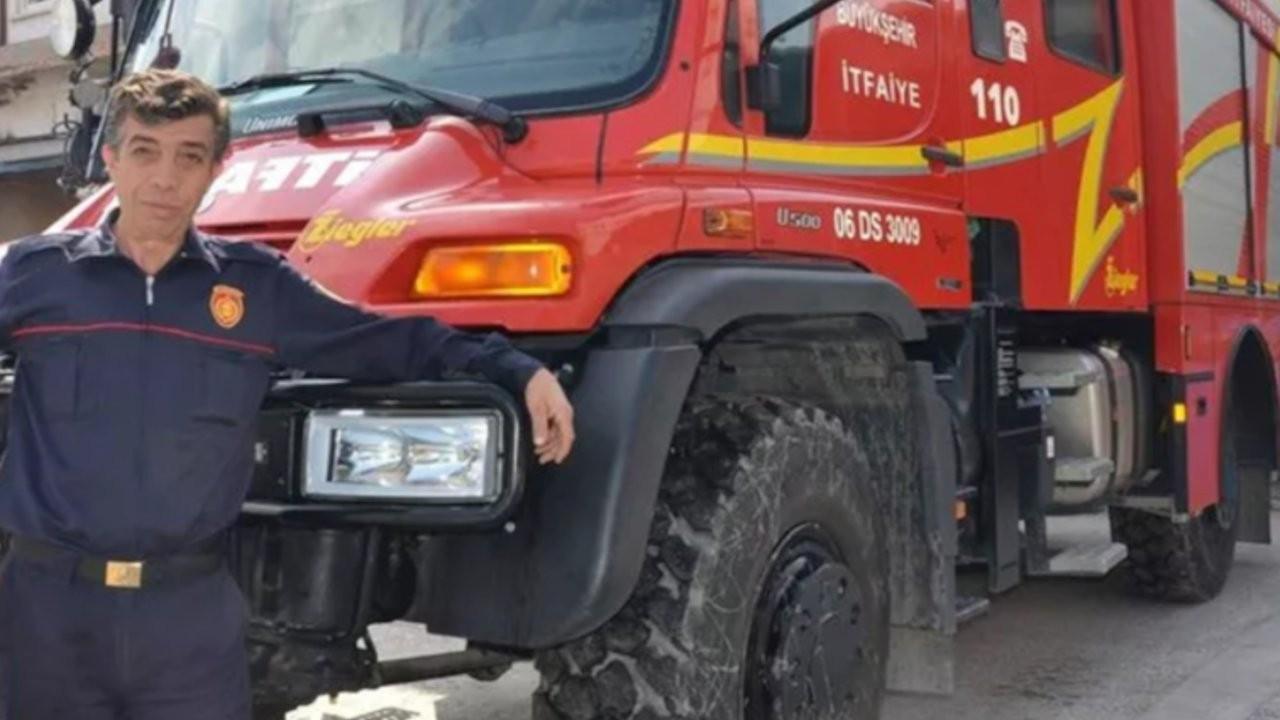 Ankara'da yangına giderken yaralanan itfaiye eri vefat etti