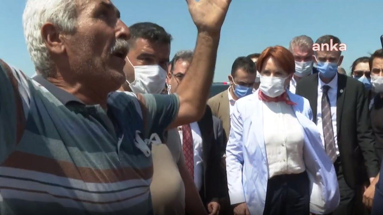 Çiftçi Akşener'e dert yandı: Böyle ülke yönetilir mi?