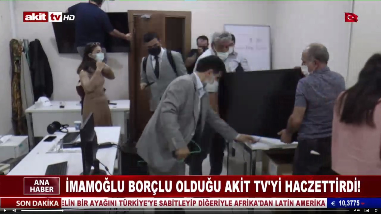 İmamoğlu AKİT TV'ye haciz gönderdi