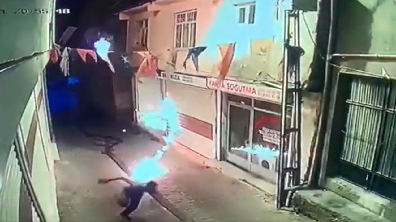 AK Parti Hani İlçe Başkanlığı'na molotoflu saldırı: 2 kişi gözaltında