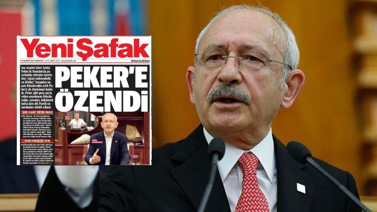 Kılıçdaroğlu'ndan Yeni Şafak'ın manşetine: Troll zekası ürünü