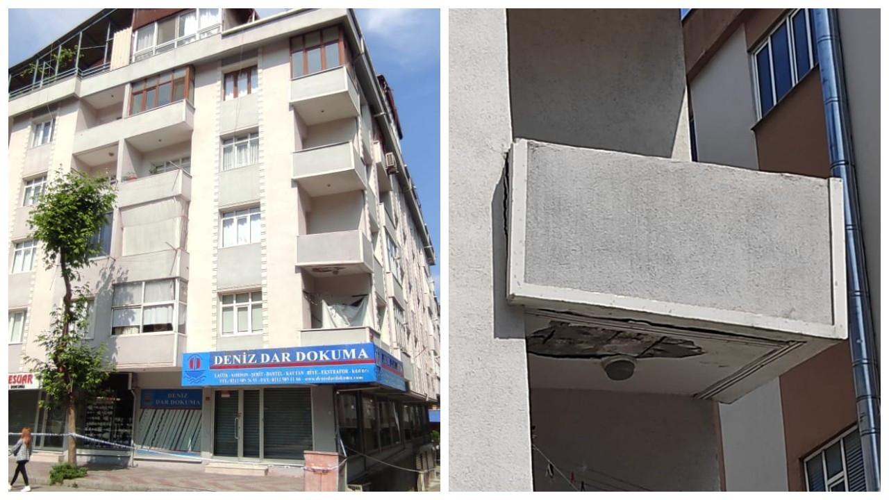 İstanbul'daki deprem sonrası çatlaklar oluşan bina boşaltıldı