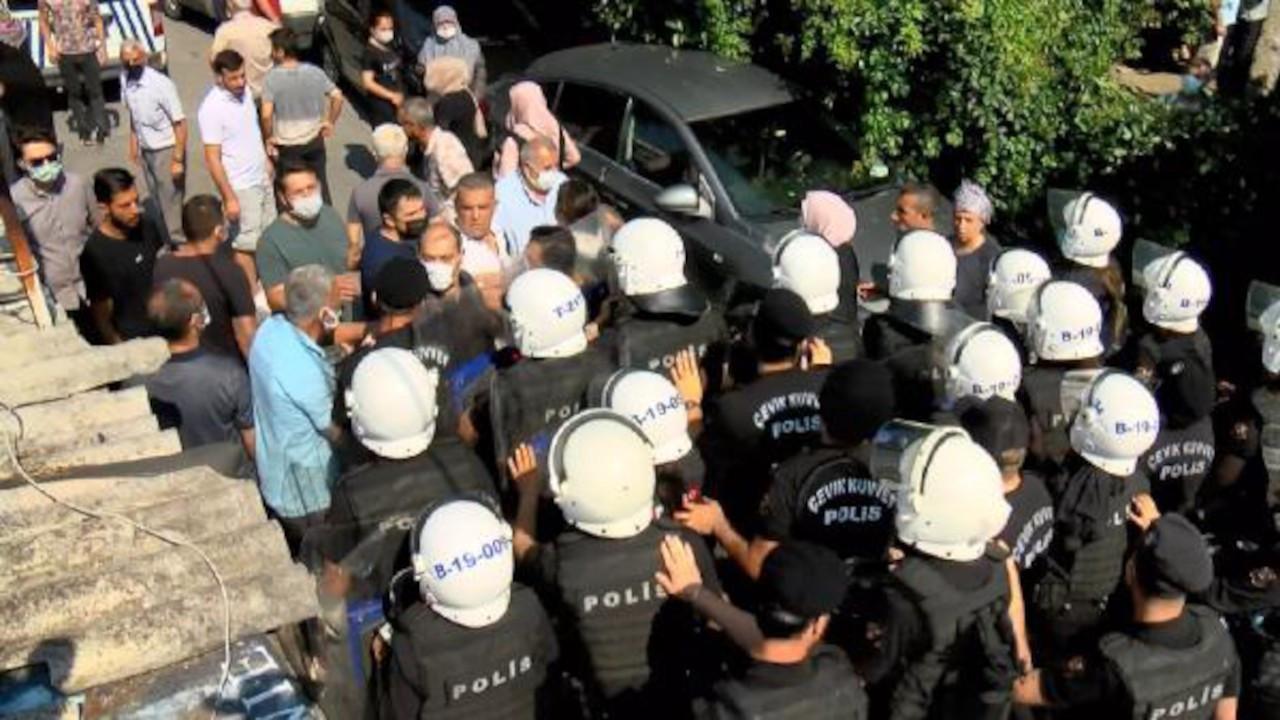 Tozkoparan'da 'kentsel dönüşüm' arbedesi: Polis biber gazı sıktı