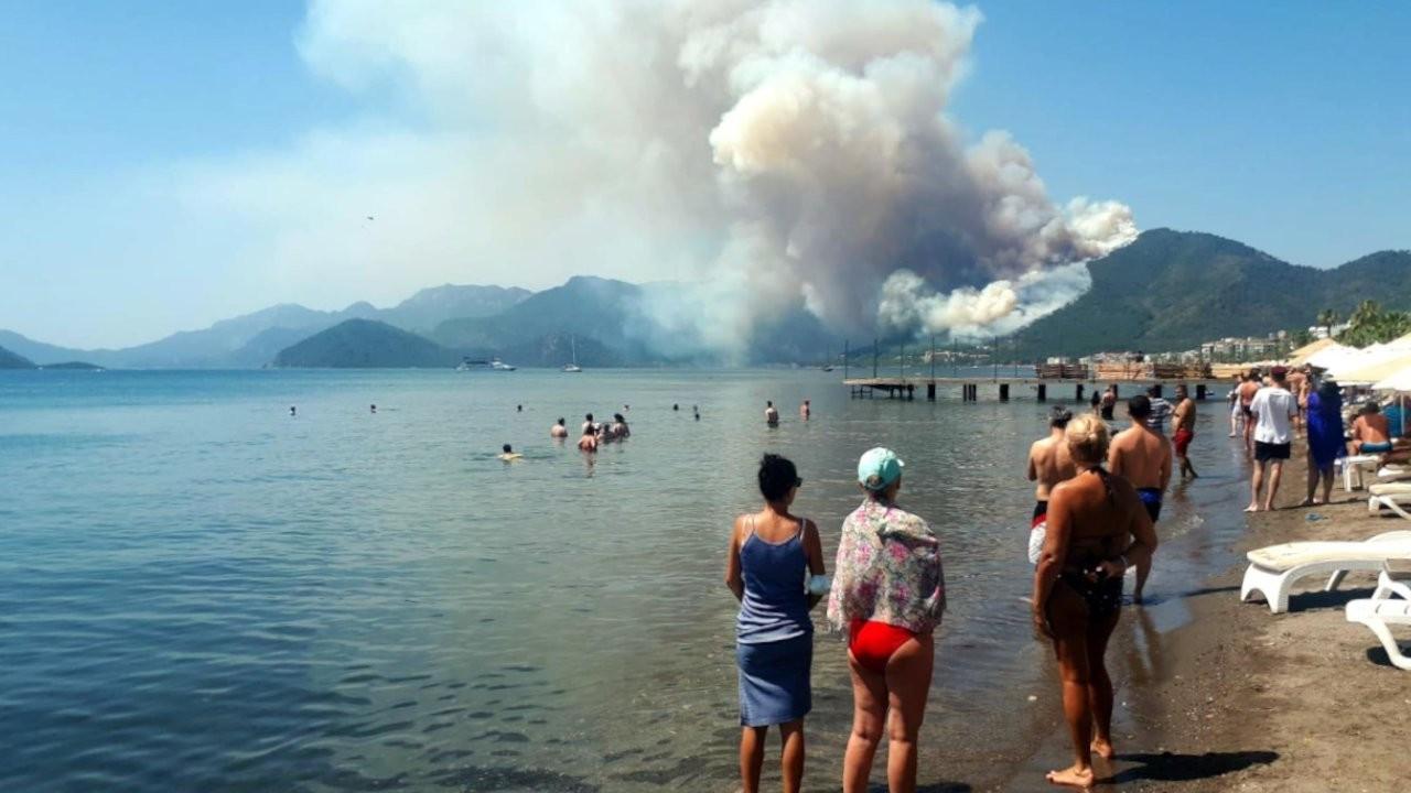 Marmaris'te orman yangını: Bir görevli vefat etti