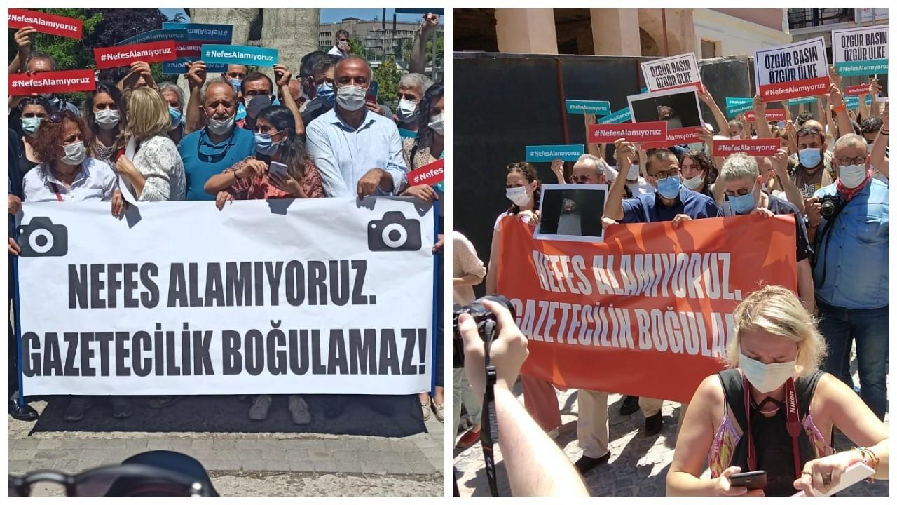 Gazeteciler eylemde: Basının nefesini kesemezsiniz!