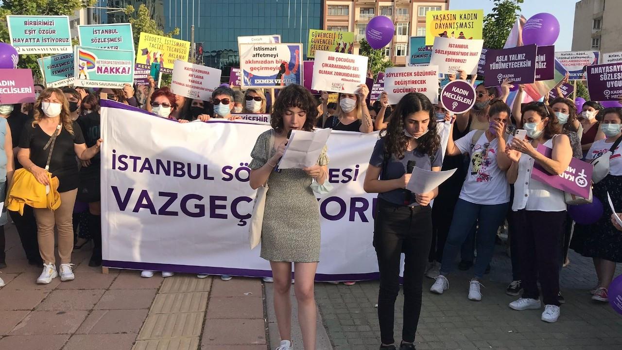 Eskişehir'de protesto: Sözleşmeyi değil cinayeti engelle