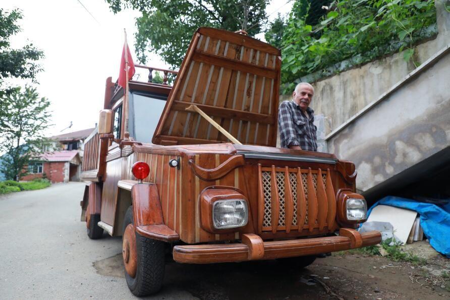 Rizeli marangoz kamyoneti ahşap kapladı: Sedirin suda 20 yıl ömrü var - Sayfa 2