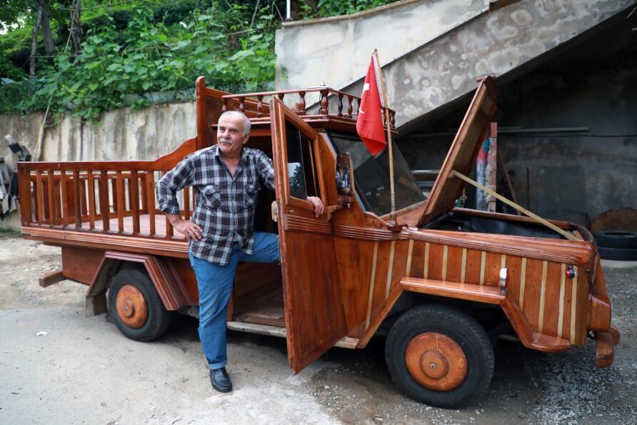 Rizeli marangoz kamyoneti ahşap kapladı: Sedirin suda 20 yıl ömrü var - Sayfa 3