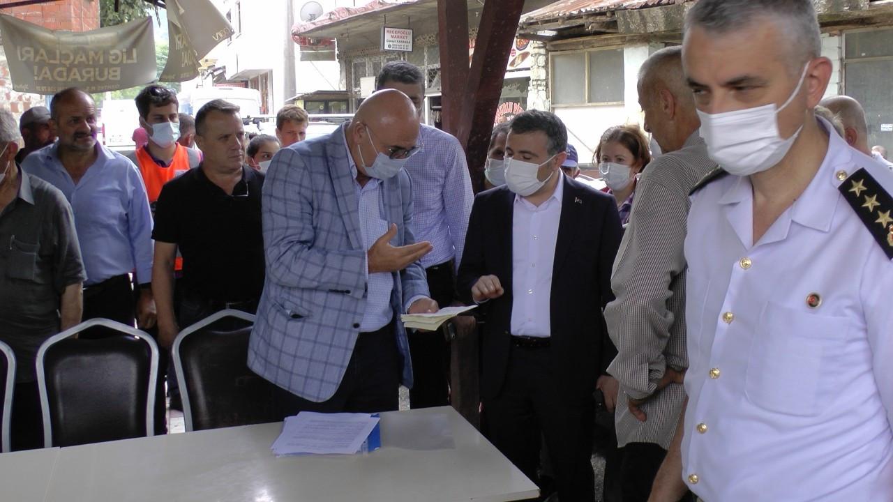 Düzce Valisi, CHP'li Tanal'la karşılaşınca bölgeyi terk etti