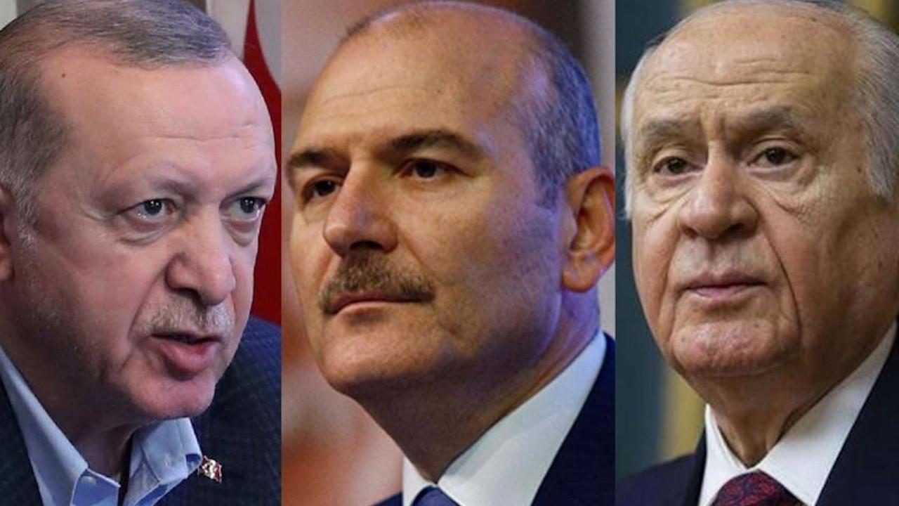 'Soylu'nun sırtında Erdoğan ile Bahçeli bilek güreşi yapıyor'