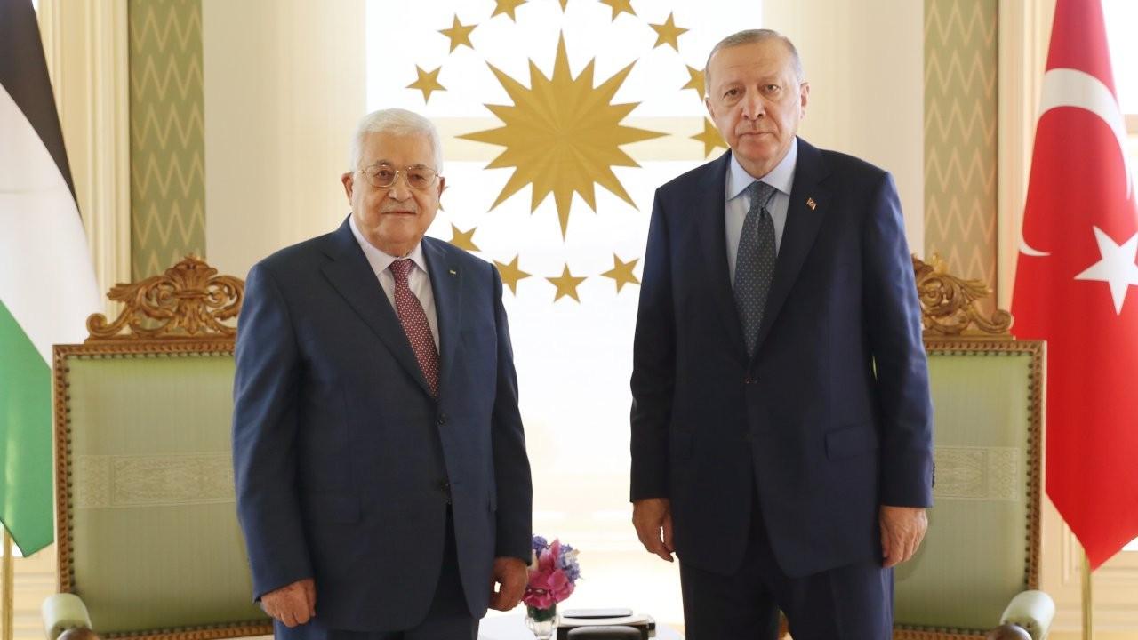 Erdoğan ile Filistin Yönetimi Devlet Başkanı Abbas görüştü