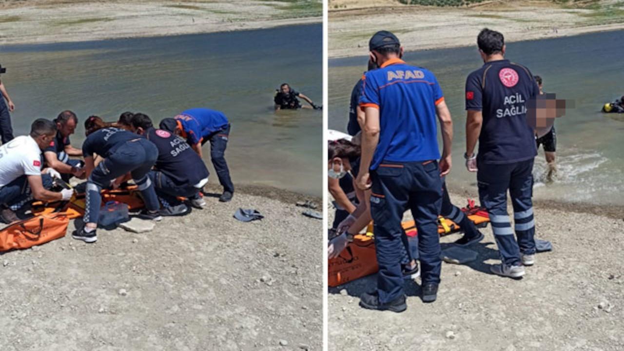Baraj gölüne düşen çocuk ve kurtarmak isteyen baba boğuldu