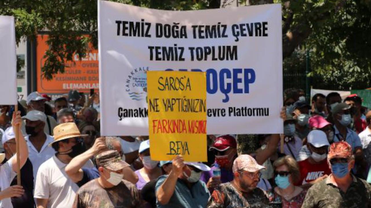 Mitingde 2 bin kişi, tek ses: Saros'uma Dokunma