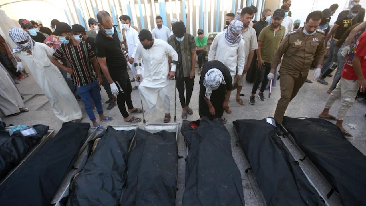 Irak'ta hastane yangınında ölenlerin sayısı 92'ye çıktı