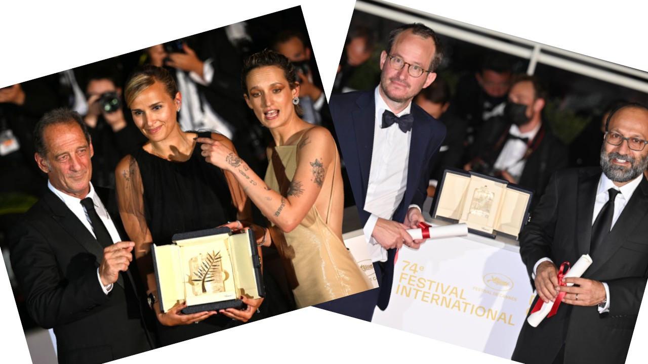 Cannes'da Altın Palmiye'yi 'Titane' kazandı